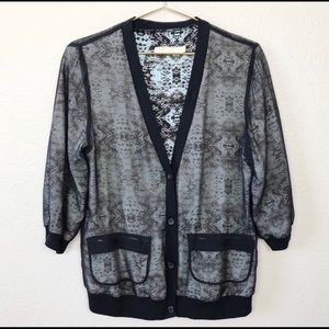 PINS & NEEDLES Silk button down cardigan.